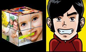 Clonarsi sulle facce di un cubo di Rubik o trasformarsi in un manga-300x180