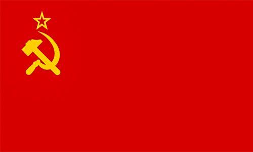 La bandiera dell'Unione Sovietica