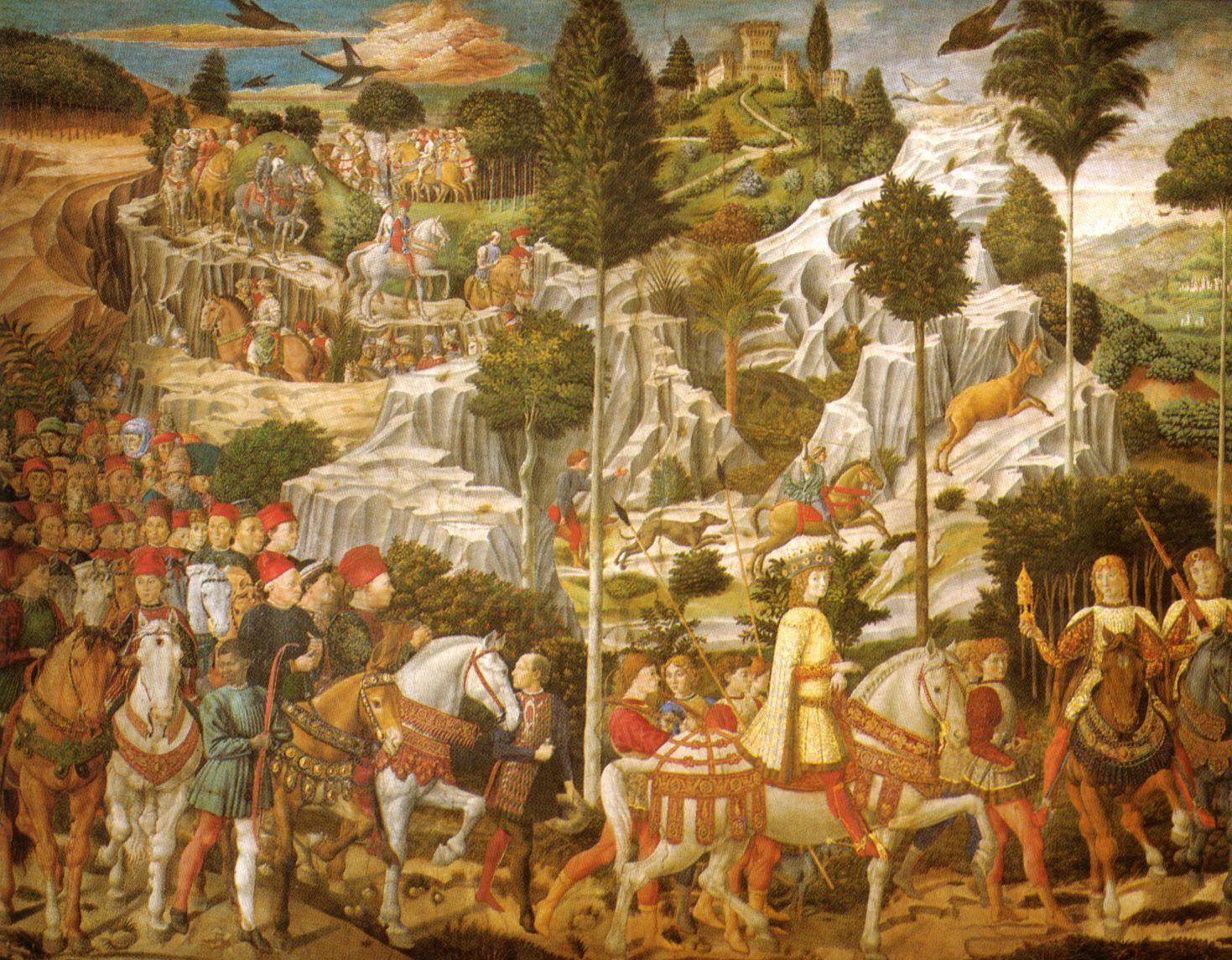 Cappella_dei_magi,_corteo_con_lorenzo,_piero_e_giovanni_de'_medici