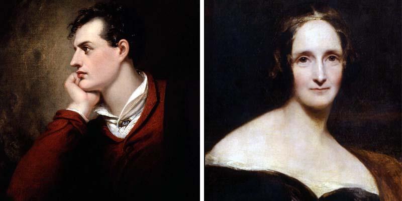 George Gordon Byron e Mary Shelley-800x400