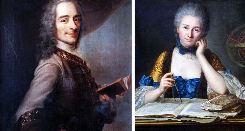 Voltaire ed Émilie du Châtelet-800x400