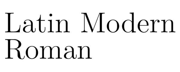 font latin modern roman