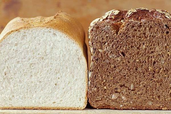 pane bianco e integrale