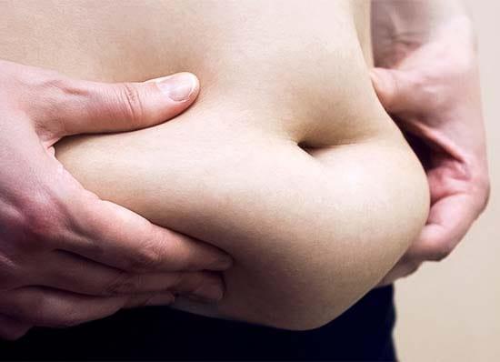 Evita la formazione di grasso addominale