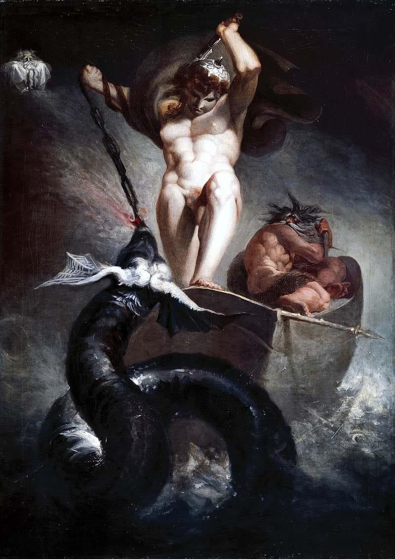 dipinto Thor uccide serpente-11-800x400